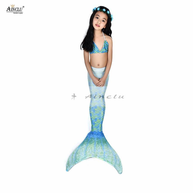 New Mother & Kids 2018 Fairy Mermaid Swimsuit For Kids Girls Mermaid Tail With Flipper Beach Wear Suit Swimming Dress Cosplay Costumes
